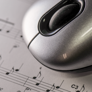 Sheet Music and Mouse